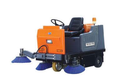 Custom Mechanical Ride On Floor Sweeper Machine , Riding Floor Sweeper Machine